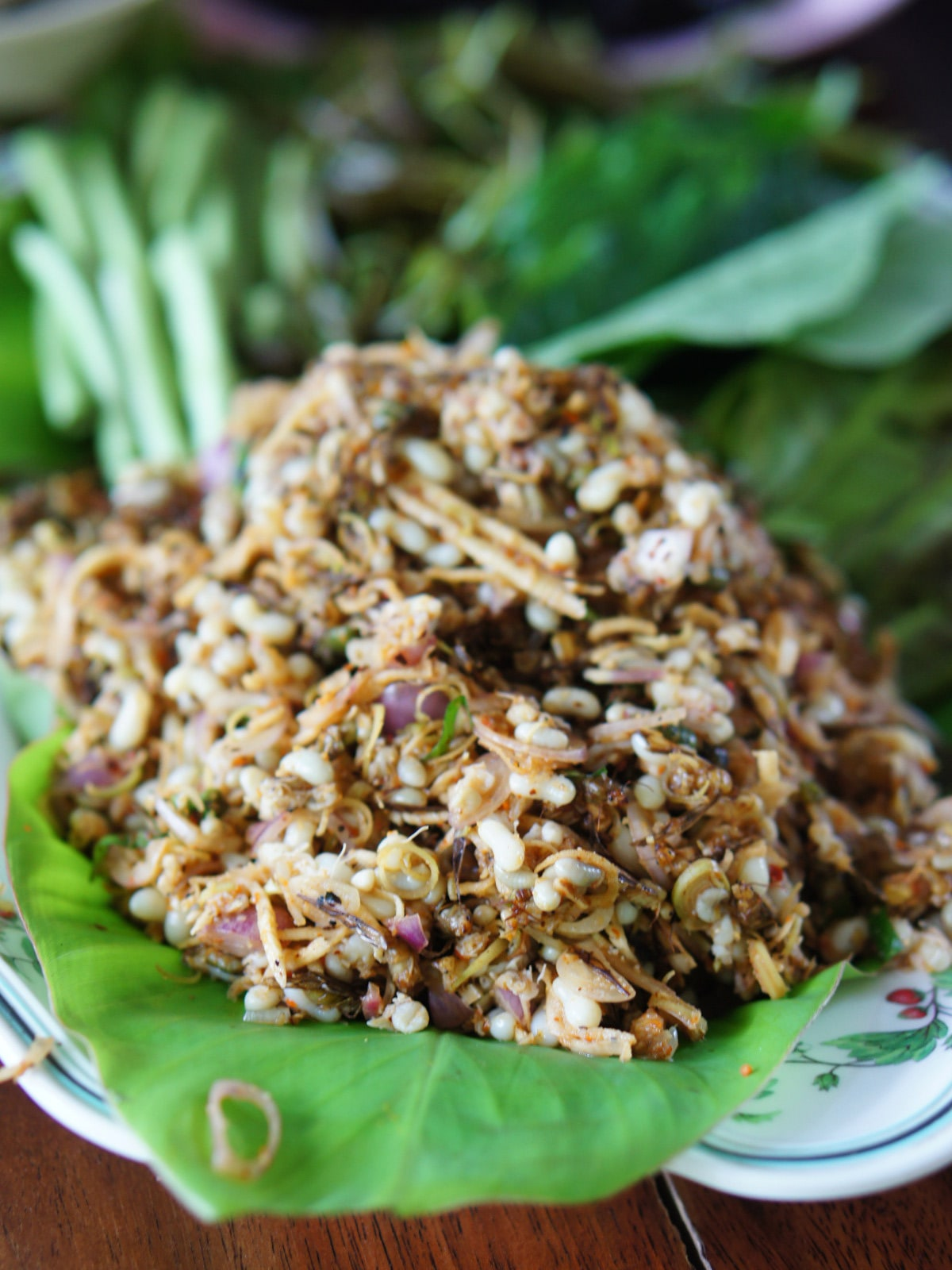 Thai Ant Egg Salad with Lemongrass