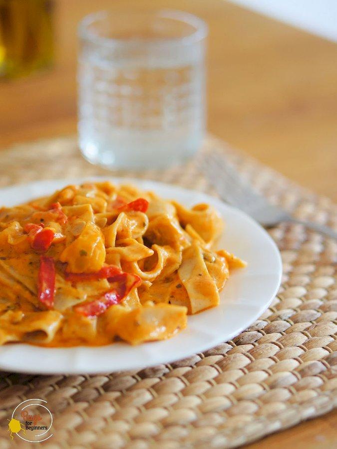 Creamy Paprika Mealworm Pasta