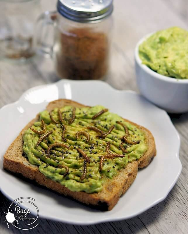 Avocado Toast with Mealworms