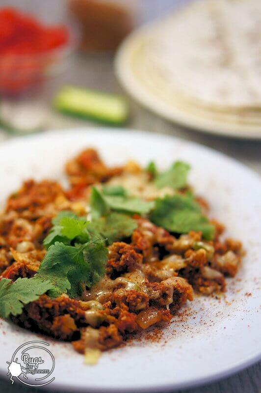 Chorizo Cricket Powder Scrambled Eggs